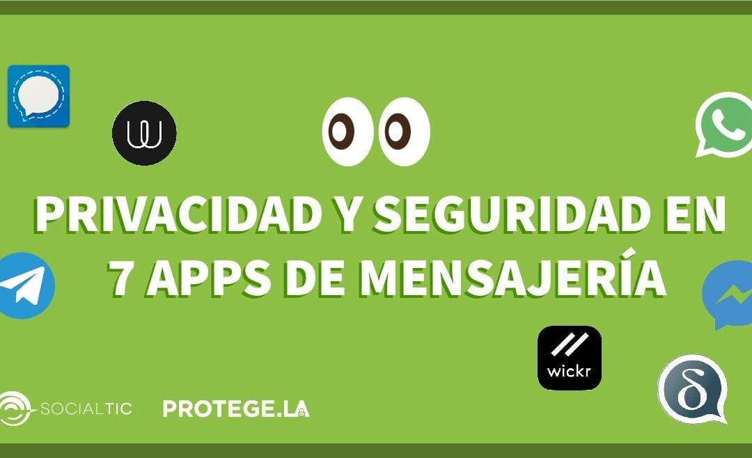 Seguridad y privacidad en apps de mensajería